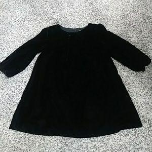 Baby Gap black velvet dress